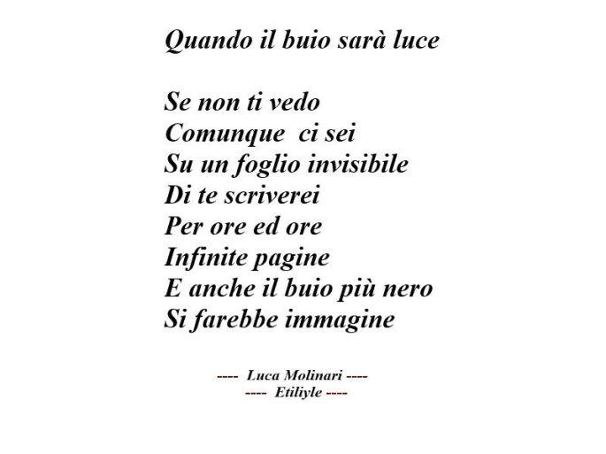 Luca Molinari Lyrics- quando il buio sarà luce
